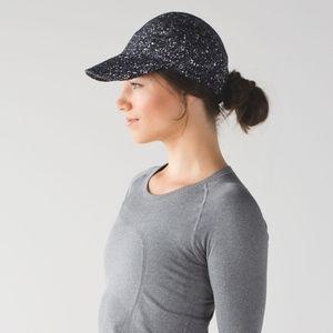 Lululemon Race To Place Run Hat Splatter Black